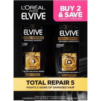 L'Oreal Paris Total Repair 5 Shampoo and Conditioner Set - 25.2 fl oz