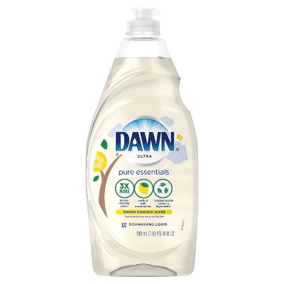 Dawn Pure Essentials Dishwashing Liquid Dish Soap Lemon Essence - 24oz
