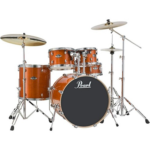 Pearl Export EXL New Fusion 5-Piece Drum Set with Hardware Honey Amber - image 1 of 3