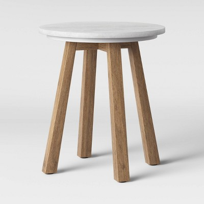 Norwich Marble Top Accent Table with Wood Base White - Threshold™