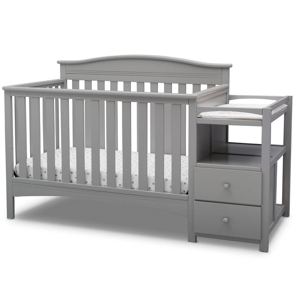 Image of Delta Children Birkley Convertible 4-in-1 Crib and Changer - Gray