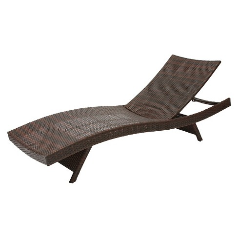 Kauai Wicker Chaise Lounge Brown Christopher Knight Home Target