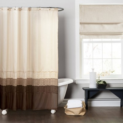 Mia Shower Curtain Wheat/Taupe - Lush Décor