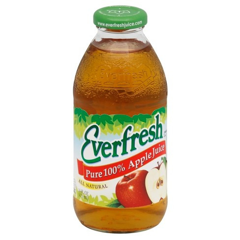 Everfresh Pure 100% Apple Juice - 16 fl oz Glass Bottle - image 1 of 3