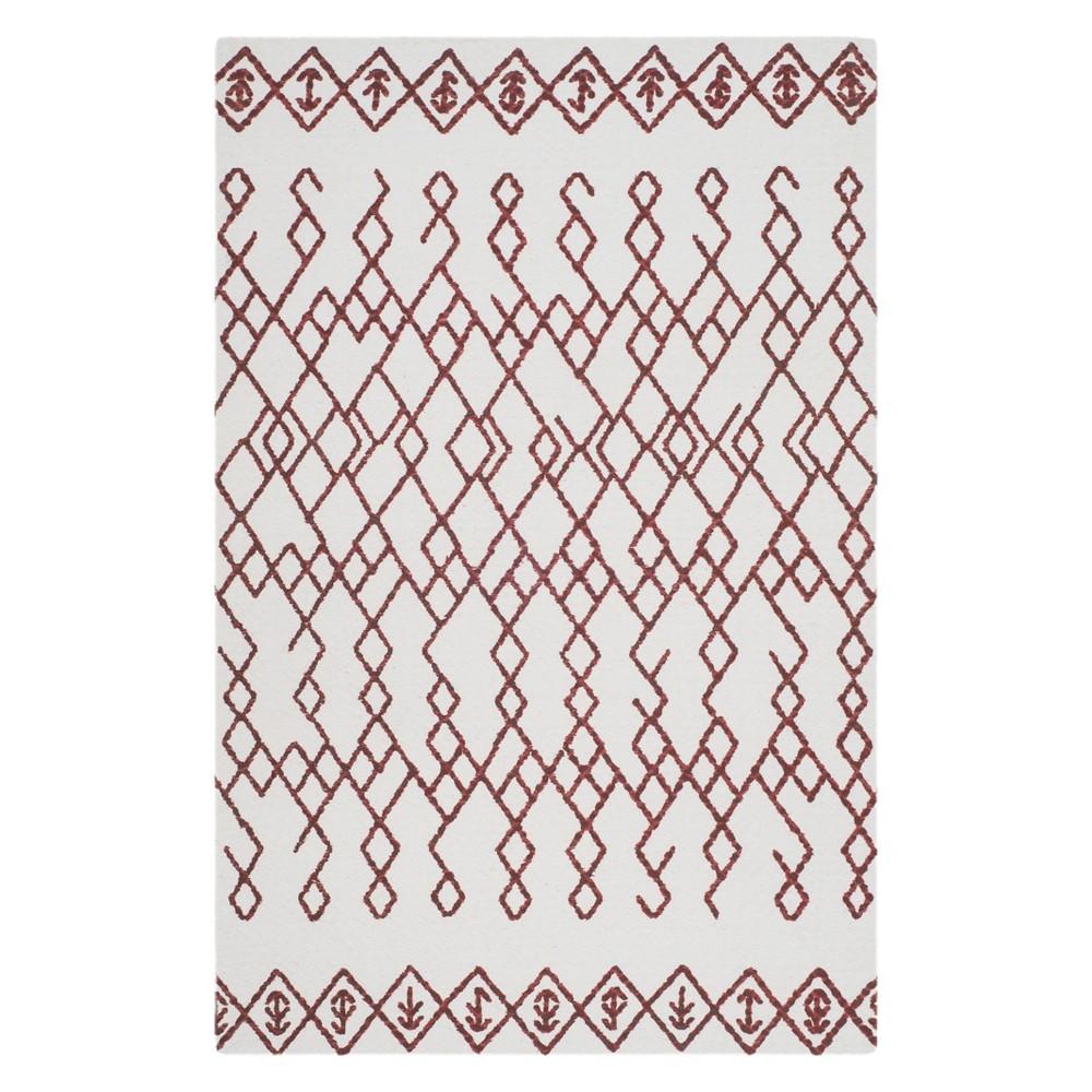 Best Buy 26X4 Tribal Design Accent Rug IvoryRust IvoryRed Safavieh
