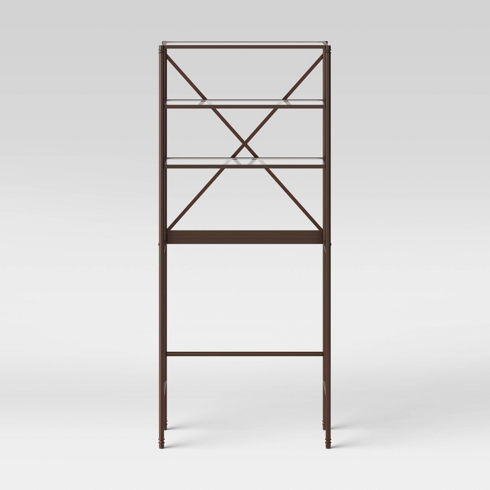 Metal/Glass Etagere Oil Rubbed Bronze - Threshold Best