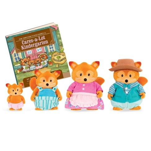 Li'l Woodzeez Miniature Animal Figurine Set - Tippytail Fox Family - image 1 of 3