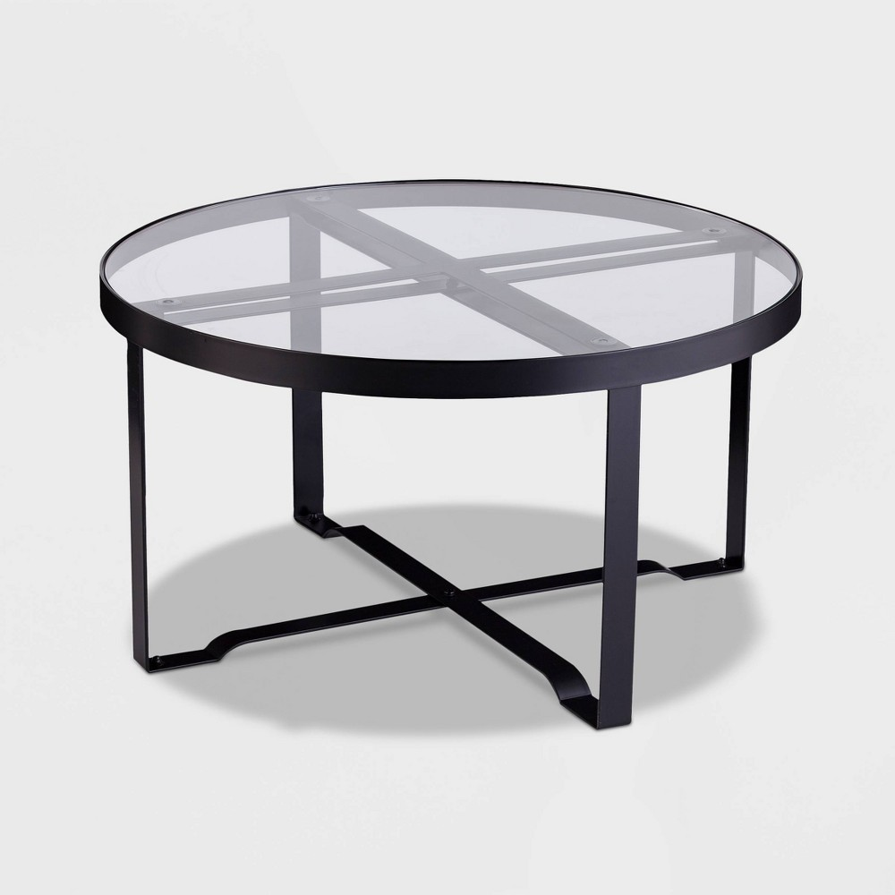 Image of Dofney 3pk Patio Table Collection - Black - Aiden Lane