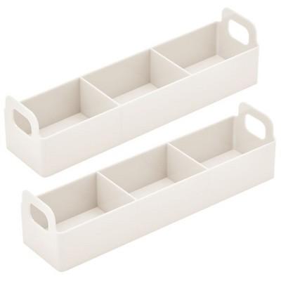 mDesign Kitchen Plastic Storage Station Tea Caddy Holder
