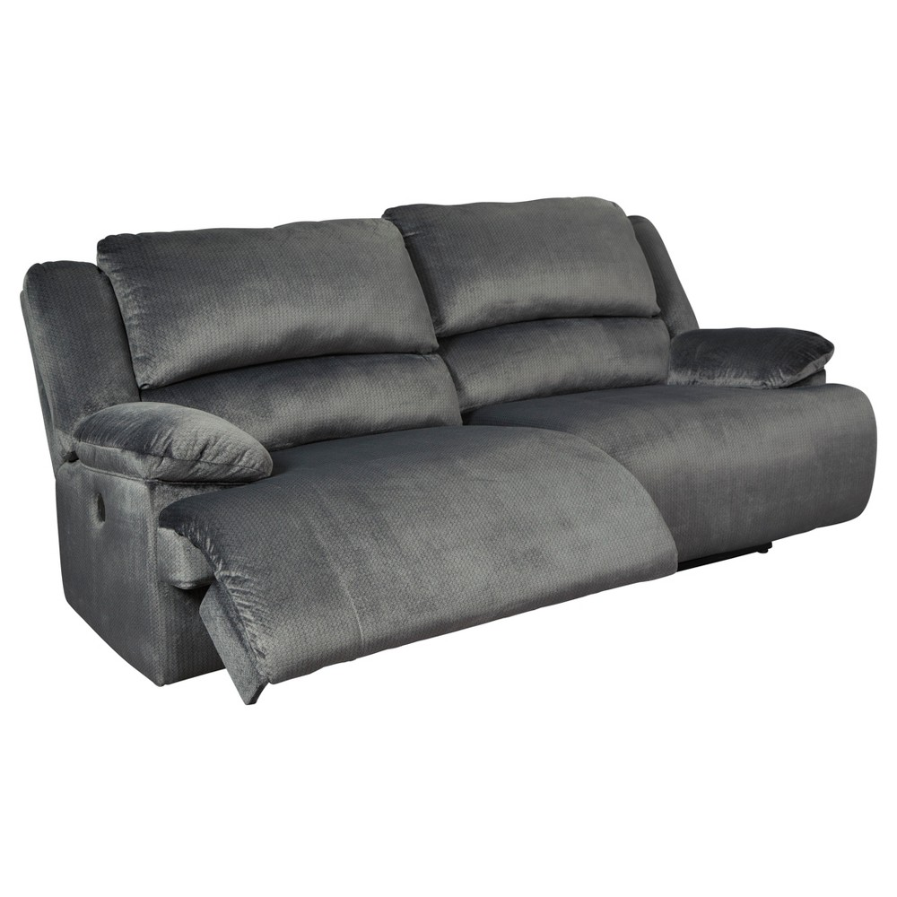 Clonmel Two Seat Reclining Power Sofa Heather Gray - Signature Design by Ashley