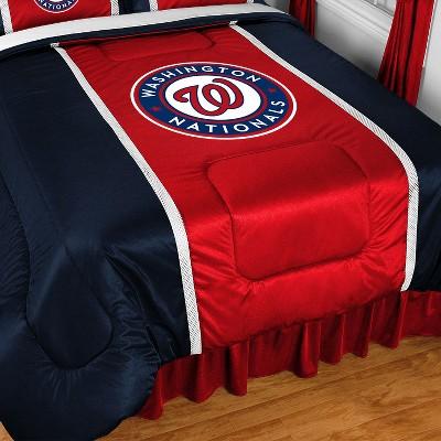 MLB Full-Queen Bed Comforter Baseball Team Logo Bedding - Washington Nationals..