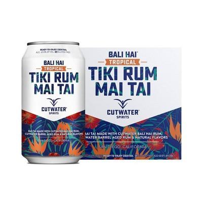 Cutwater Bali Hai Tiki Rum Mai Tai Cocktail - 4pk/12 fl oz Cans