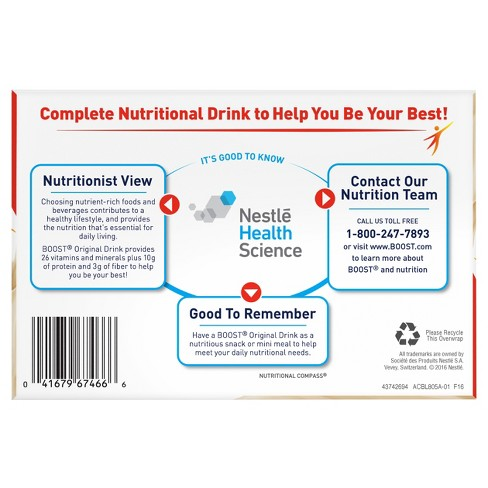 Boost Original Complete Nutritional Drink - Vanilla - 8oz/6ct