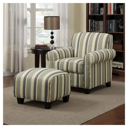 Wendy Chair Ottoman Coastal Blue Stripe Handy Living Target