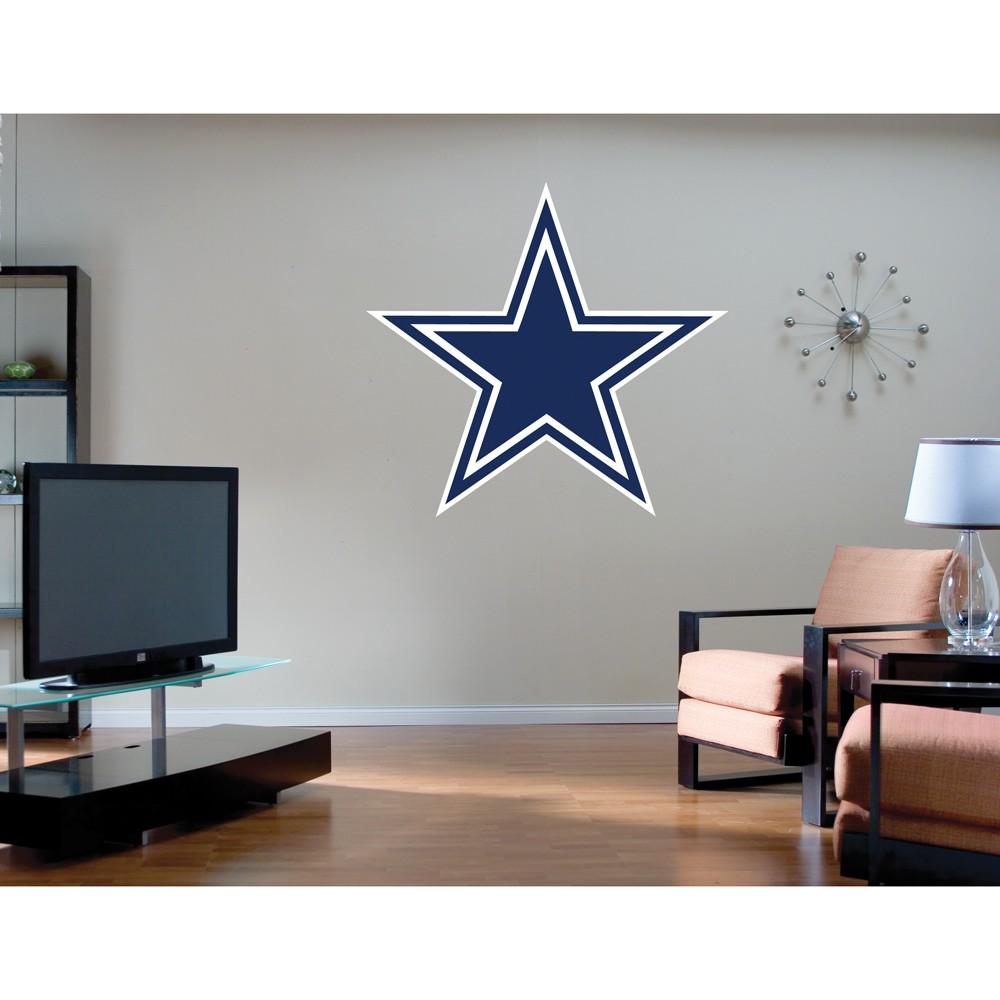 Fathead Dallas Cowboys Logo Wall Décor - 40Lx43W, Blue/White