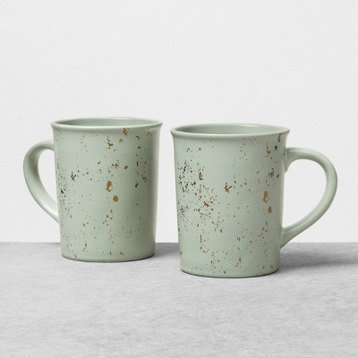 2pk Stoneware Mug Speckled Green - Hearth & Hand™ with Magnolia