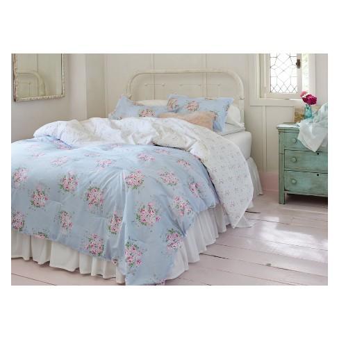Blue Bella Floral Comforter Sham Set Simply Shabby Chic Target