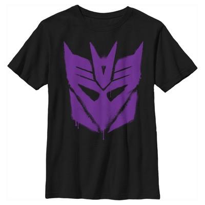 Boy's Transformers Decepticon Graffiti Logo T-Shirt