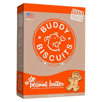 Buddy Biscuits Oven-Baked Crunchy Treats with Peanut Butter - 16oz