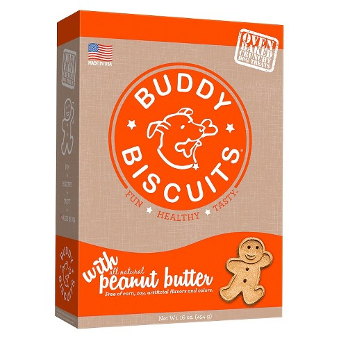 Buddy Biscuits Oven-Baked Crunchy Treats with Peanut Butter - 16oz - image 1 of 6