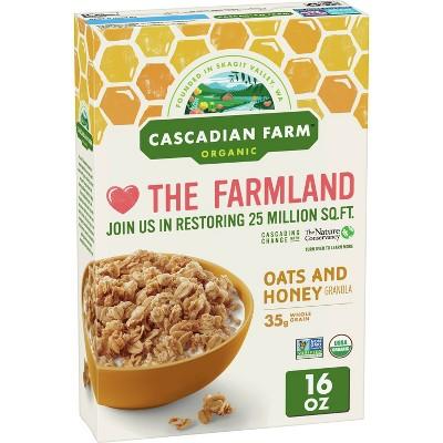 Cascadian Farm Oats & Honey Granola Breakfast Cereal  - 16oz