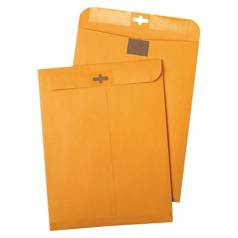 Quality Park Postage Saving ClearClasp Kraft Envelopes - Brown (100 Per Box) - image 1 of 1