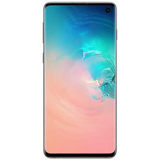 "Samsung S10 128GB 8GB RAM 6.1"" Dual Sim 16.0 MP GSM Unlocked Smartphone - Manufacturer Refurbished - Prism White"