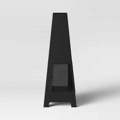 Outdoor Metal Chimnea Black - Project 62™