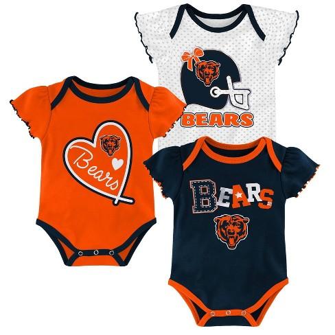NFL Chicago Bears Baby Girls' Newest Fan 3pk Bodysuit Set - image 1 of 4