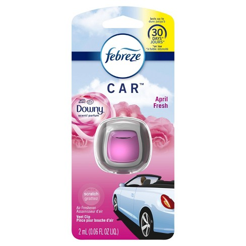 Febreze Car Odor-Eliminating Air Freshener Vent Clip with Downy April Fresh Scent - 1ct - image 1 of 4