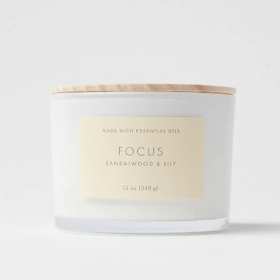 Wood Lidded Glass Wellness Focus Candle - Project 62™