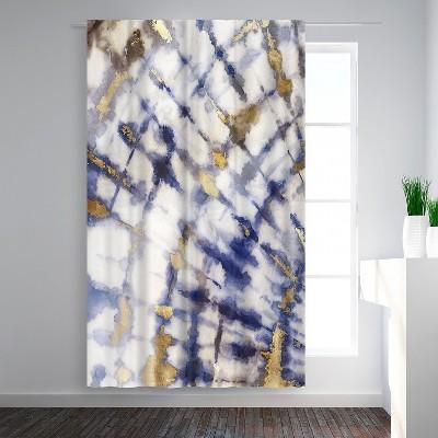 Americanflat Tye Dye I by PI Creative Art Blackout Rod Pocket Single Curtain Panel 50x84