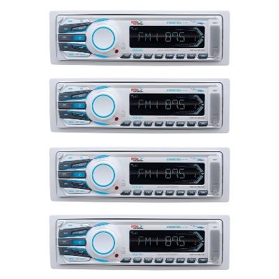 Boss Audio Weatherproof Bluetooth Digital Media Audio Marine Receiver (4 Pack)