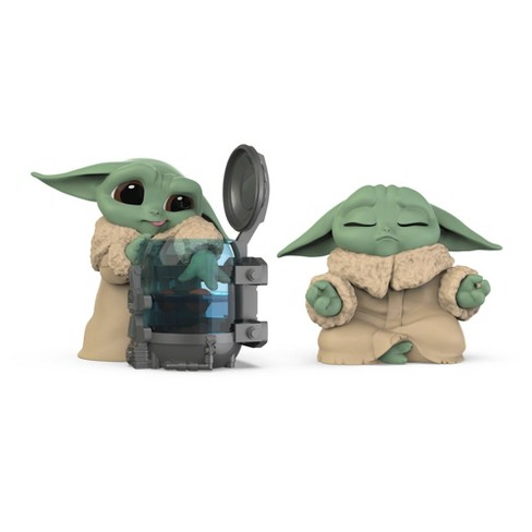 Star Wars The Bounty Collection Series 3 Set of 2 Curious Child and Meditation Poses Grogu Figures - image 1 of 4
