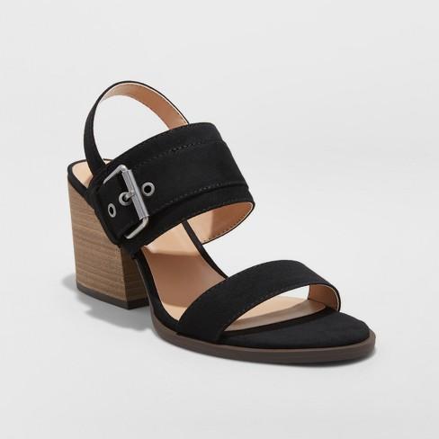 c85a07e4167 Women s Matti Heeled Buckle Ankle Strap Sandals - Universal Thread™   Target
