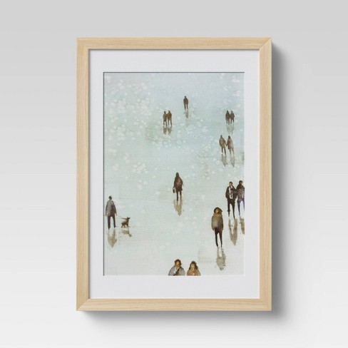 "10"" x 14"" Ice Rink Framed Print - Threshold™ - image 1 of 3"