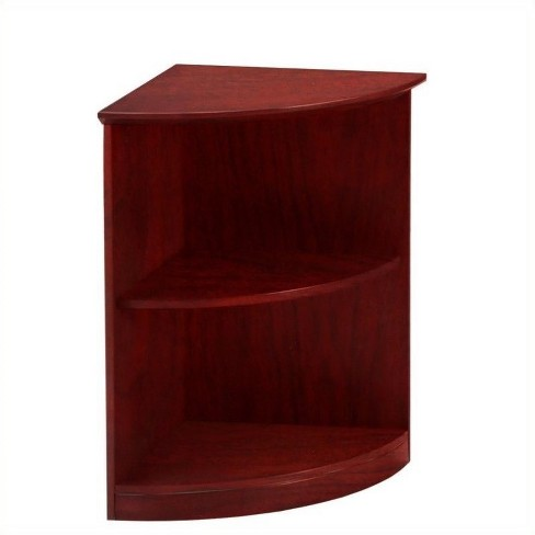 Wood Medina Bookcase 2 Shelf 0.25 - Round in Mahogany Brown - Safco - image 1 of 1