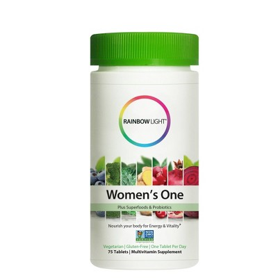 Rainbow Light Women's One Superfoods & Multivitamin Tablets - 75ct