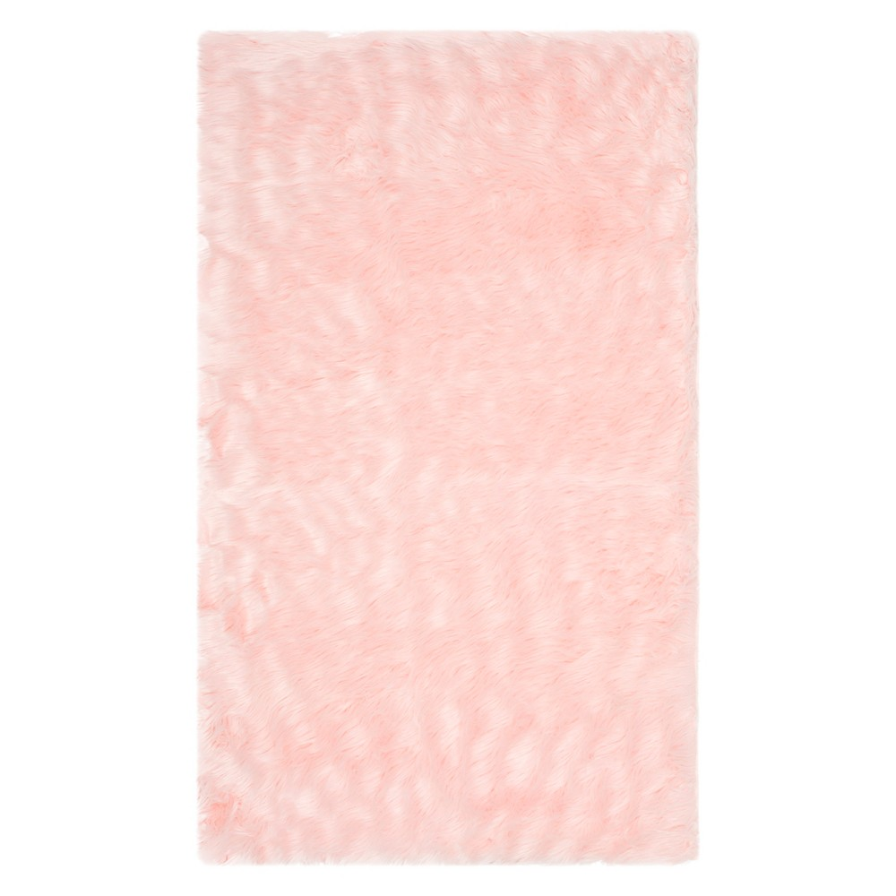 5'X7' Solid Area Rug Pink - Safavieh