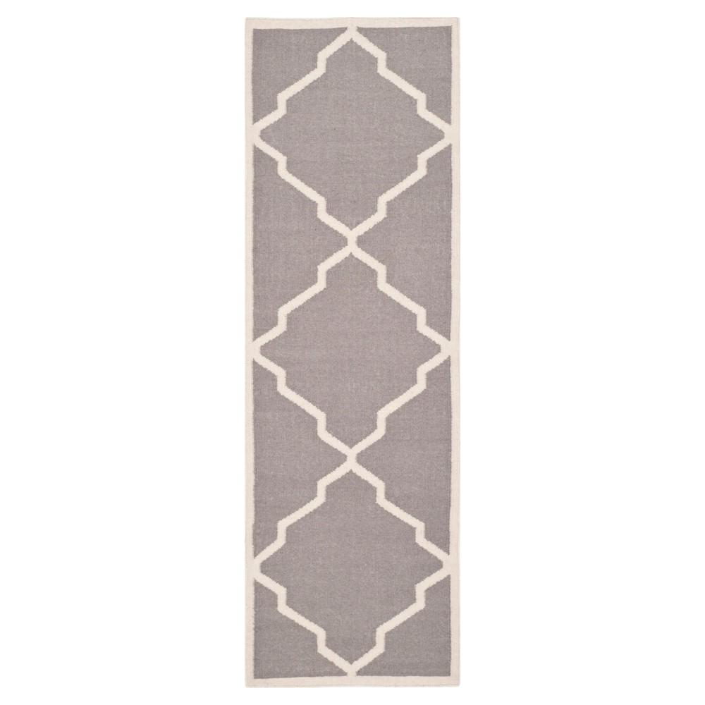 Buy Nadia Dhurry Rug - Gray Ivory - (26x10) - Safavieh