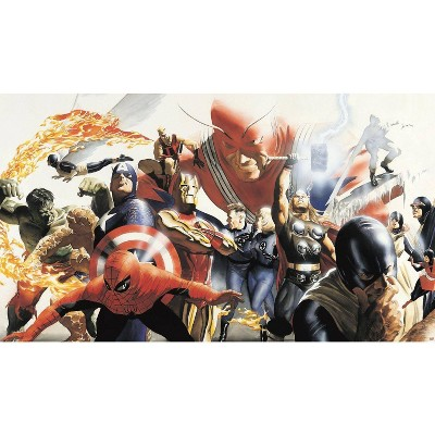 Marvel Adam Ross Peel and Stick Wall Mural - RoomMates