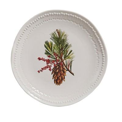 Split P Pinecone Plate Set - White