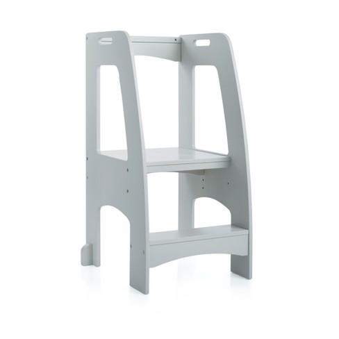 Awesome Step Up Kitchen Helper Gray Guidecraft Theyellowbook Wood Chair Design Ideas Theyellowbookinfo
