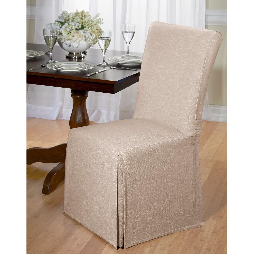Madsion Tan Chambray Dining Room Chair Slipcover - Madiso...