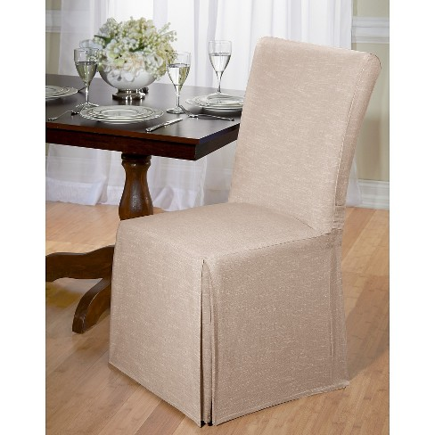 Tan Chambray Dining Room Chair Slipcover - Madison Industries