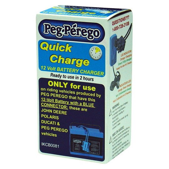 Peg Perego 12 Volt Quick Charger - Blue image number null