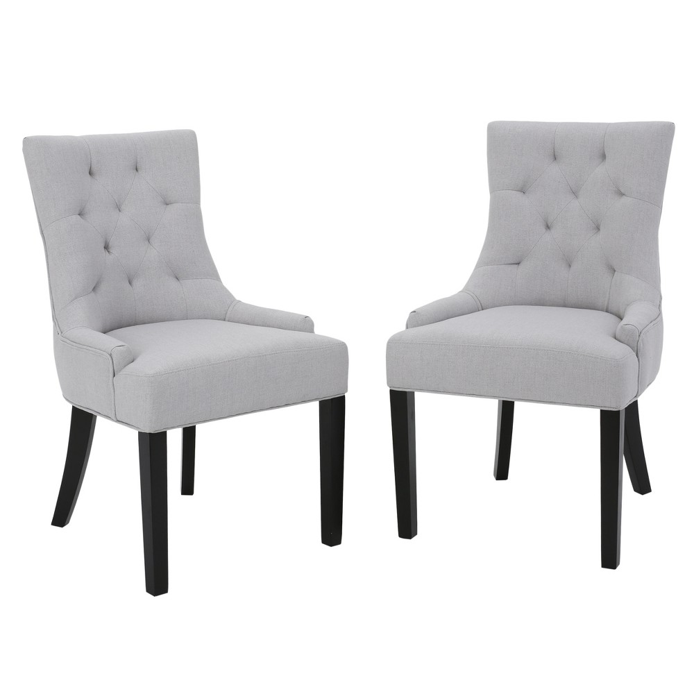 Set of 2 Hayden Tufted Dining Chairs Light Gray - Christopher Knight Home was $284.99 now $185.24 (35.0% off)