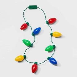 Multi Color Christmas Light Bulb Necklace Lit - Wondershop™
