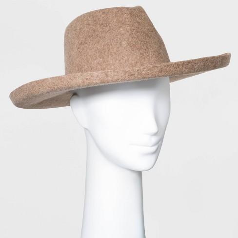 Women's Wide Brim Felt Fedora Hat - Universal Thread™ - image 1 of 2
