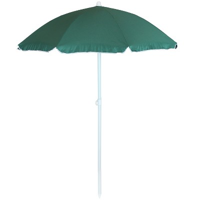 Steel Beach Tilt Umbrella 5' - Green - Sunnydaze Decor